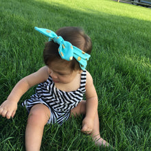 Load image into Gallery viewer, Baby Headband: Topknot headbands - gold polka dots