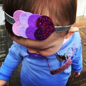 Baby Headband: Mini Catalina - sparkle hearts