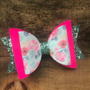 Double layer spring succulent bow
