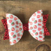 Load image into Gallery viewer, Strawberry fields bow