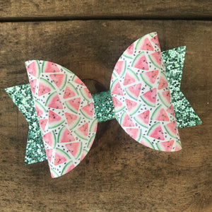 Watermelon Slice bow