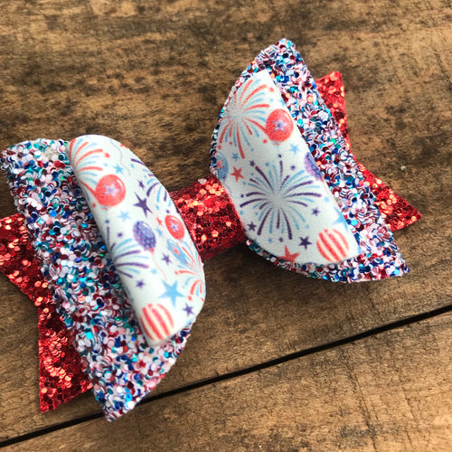 Patriotic party bow