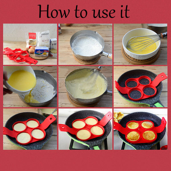 【Buy three free shipping】Easy Pancake Nonstick Molds