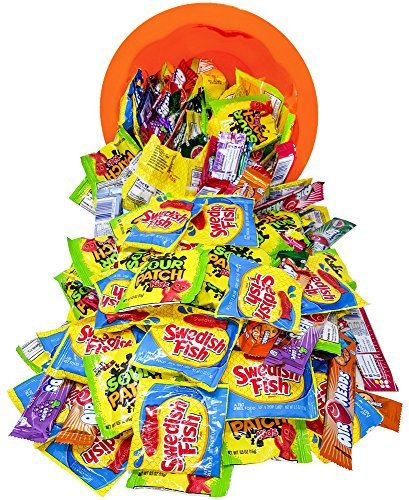 Airheads Bars, Sour Patch Kids, Swedish Fish Bulk Candy, 200 Count - 6 8  Pound -