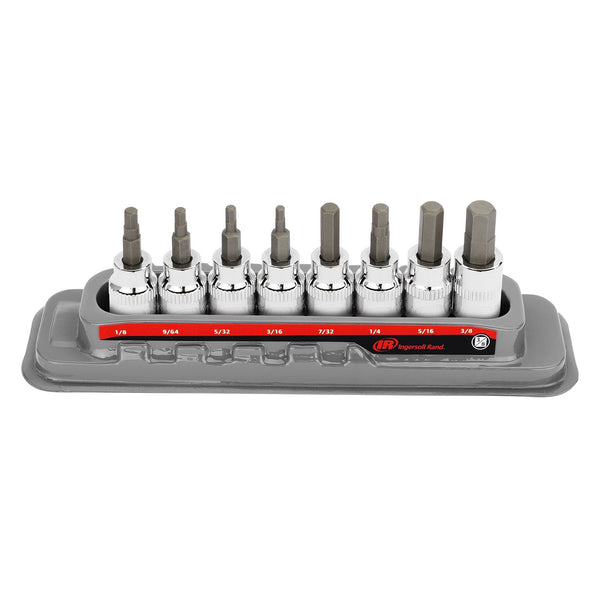 8 Pc. 3/8 in. Drive Hex Bit Socket Set - SAE