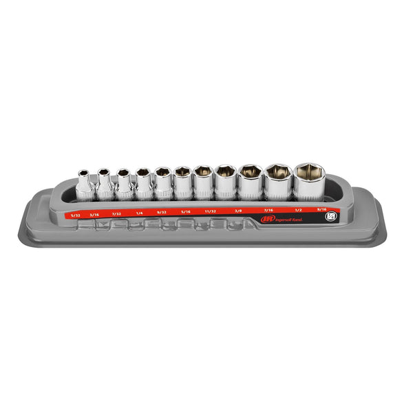 11 Pc. 1/4 in. Drive Shallow Socket Set - SAE 6 Pt.