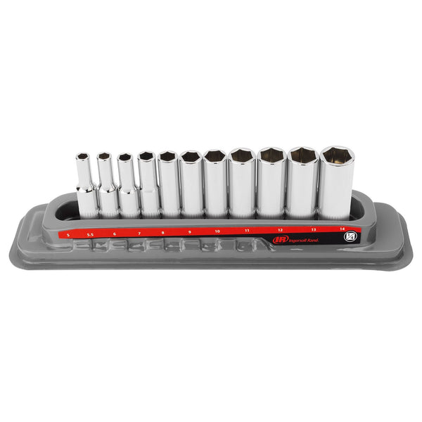 11 Pc. 1/4 in. Drive Deep Socket Set - Metric 6 Pt.