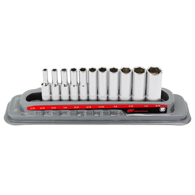 11 Pc. 1/4 in. Drive Deep Socket Set - SAE 6 Pt.