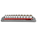 11 Pc. 3/8 in. Drive Shallow Socket Set - Metric 12 Pt.