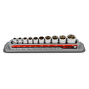 10 Pc. 3/8 in. Drive Shallow Socket Set - SAE 12 Pt.