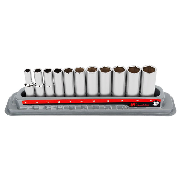 11 Pc. 3/8 in. Drive Deep Socket Set - Metric 6 Pt.