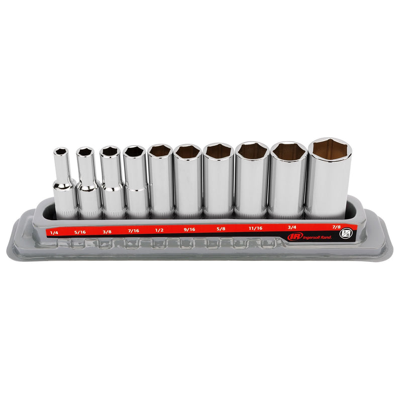 10 Pc. 3/8 in. Drive Deep Socket Set - SAE 6 Pt.