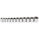 12 Pc. 1/2 in. Drive Shallow Socket Set - SAE 12 Pt.