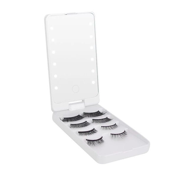 LED Lash Case Mirror - Blink and Wink Minks