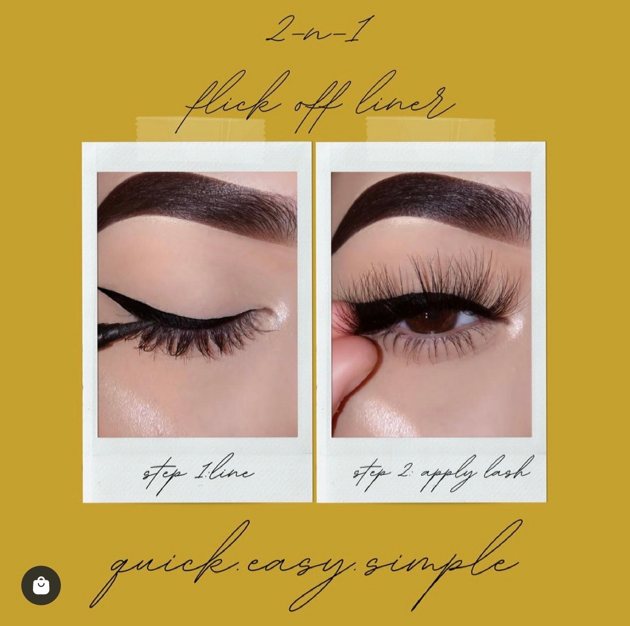 FLICK-OFF LINER LASH ADHESIVE - Blink and Wink Minks