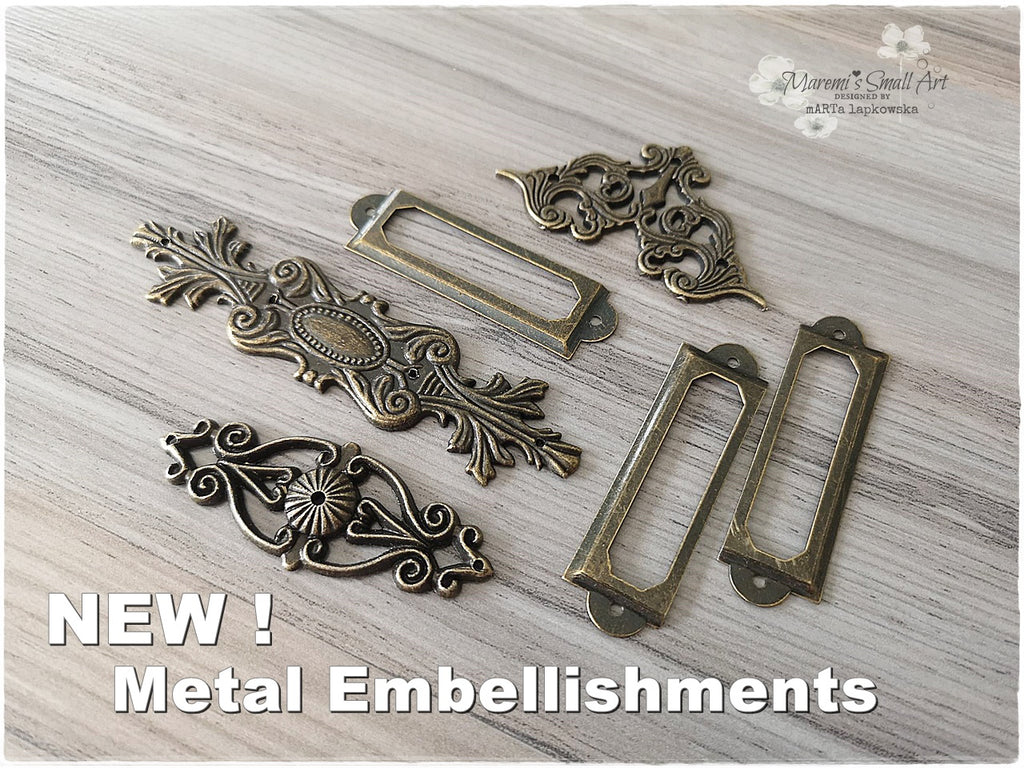 NEW! Beautiful Ornament Metal Embellishments