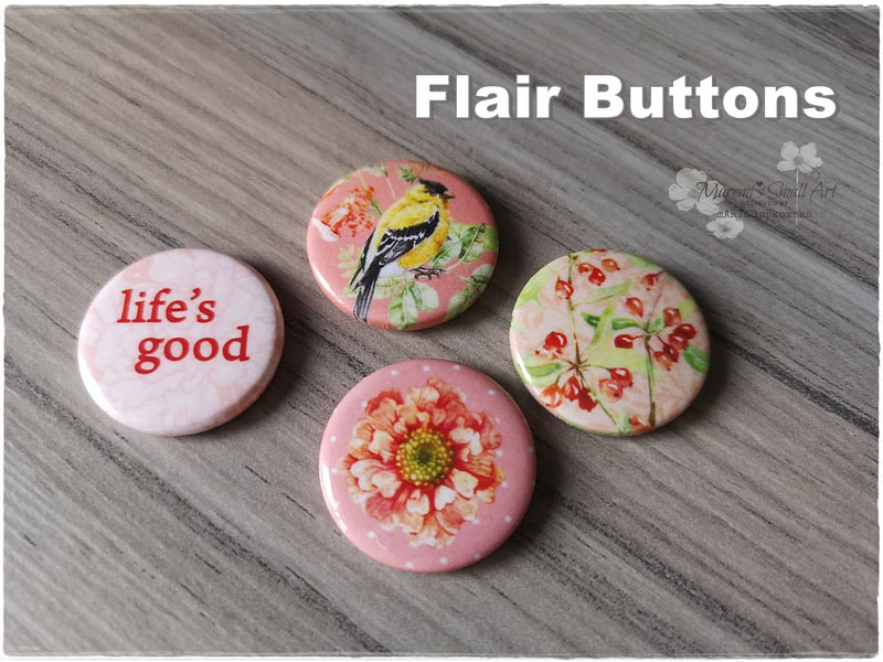 Flair Buttons 'Life'