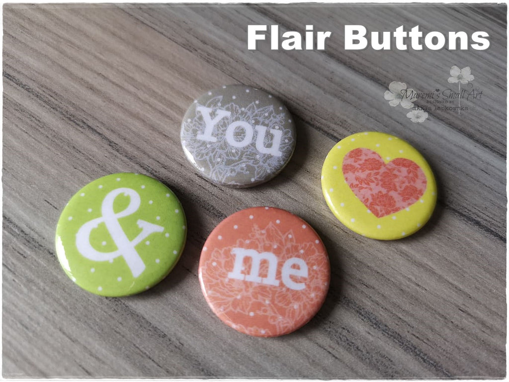 Flair Buttons 'You & Me'