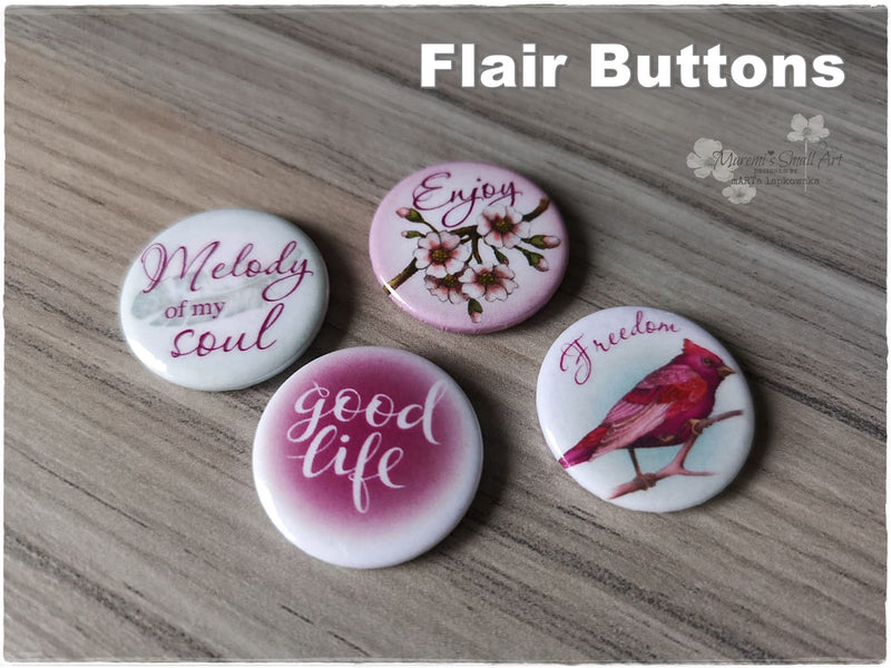 Flair Buttons 'Melody'