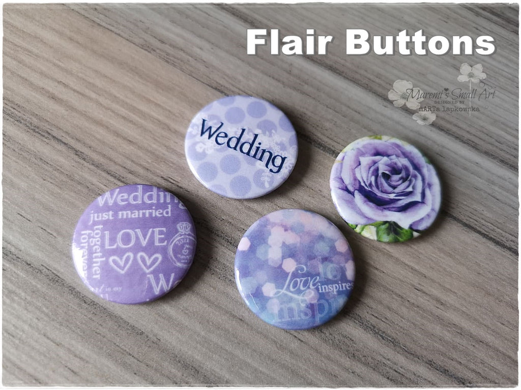 Flair Buttons 'Wedding'