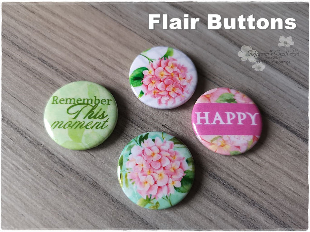 Flair Buttons 'Happy'