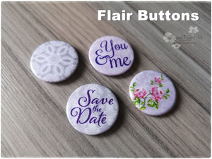 Flair Buttons 'Save the Date'