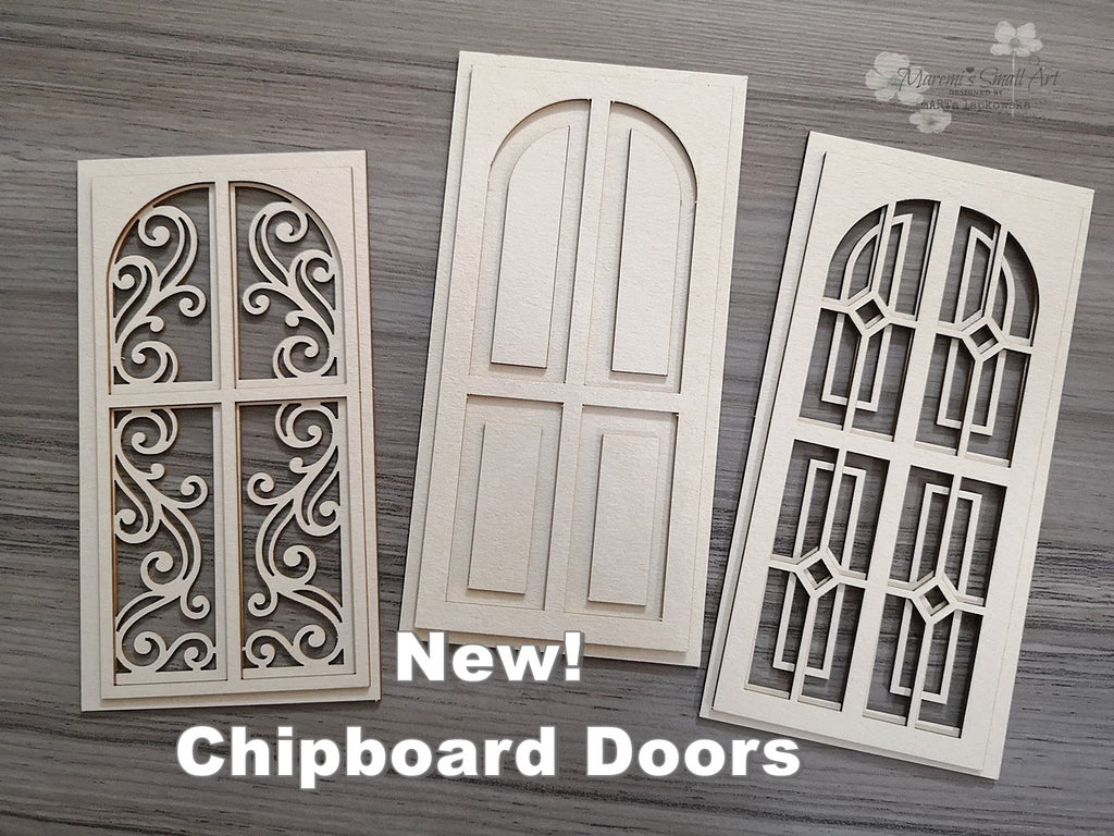 3 Pieces of beautiful Doors Chipboard Set
