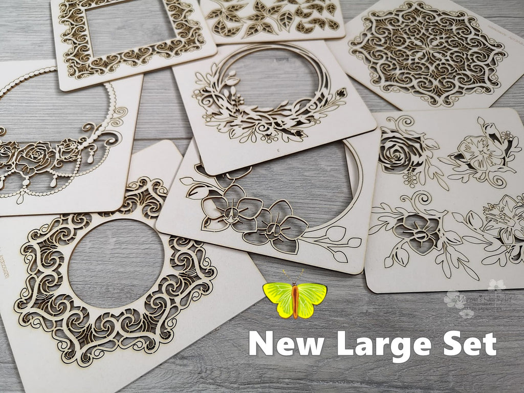 NEW! 7 Pieces random Beautiful Large Chipboard Set