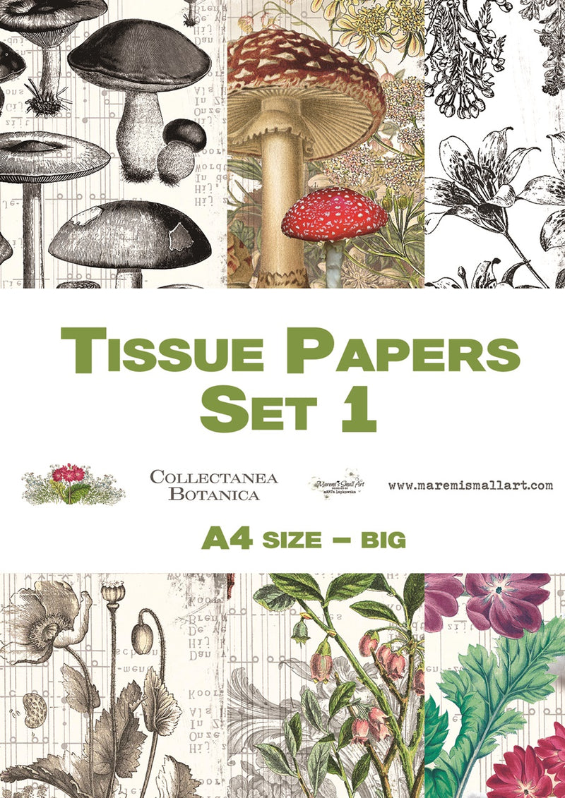 A4 set 1 'Collectanea Botanica' Maremi's Tissue Papers