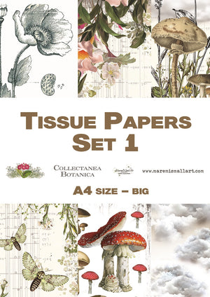 A4 set 2 'Collectanea Botanica' Maremi's Tissue Papers
