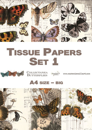 A4 set 1 'Collectanea Butterflies' Maremi's Tissue Papers