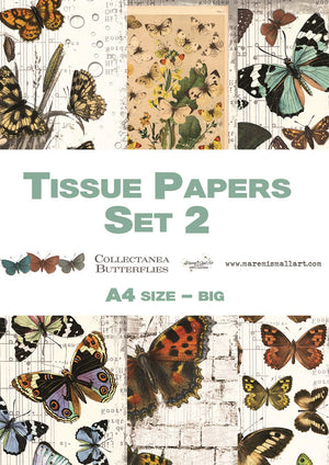 A4 set 2 'Collectanea Butterflies' Maremi's Tissue Papers