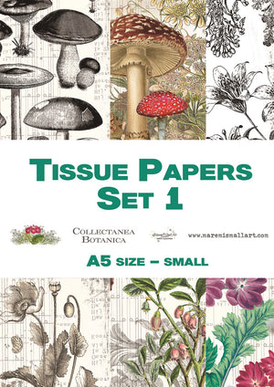 A5 set 1 'Collectanea Botanica' Maremi's Tissue Papers