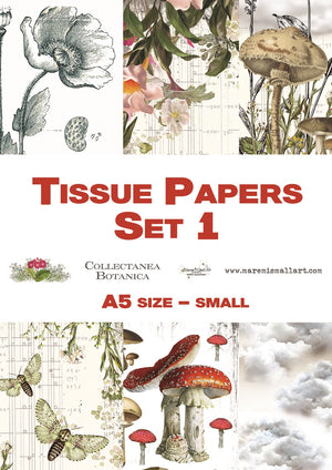 A5 set 2 'Collectanea Botanica' Maremi's Tissue Papers