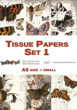 A5 set 1 'Collectanea Butterflies' Maremi's Tissue Papers