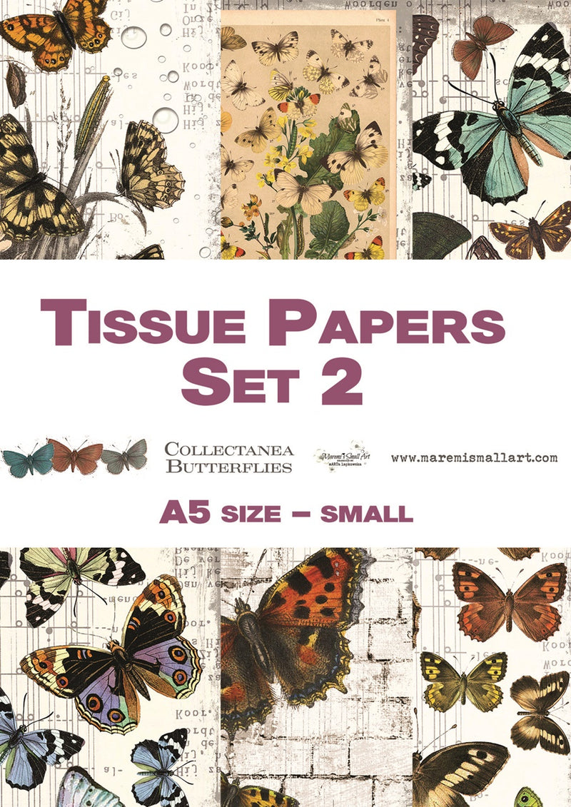 A5 set 2 'Collectanea Butterflies' Maremi's Tissue Papers