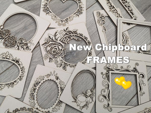 NEW! Set of 3 Random Chipboard Frames