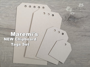 NEW! Maremi's Set of 4 Tag Chipboards Basic