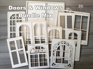 NEW Chipboards Doors & Windows Bundle