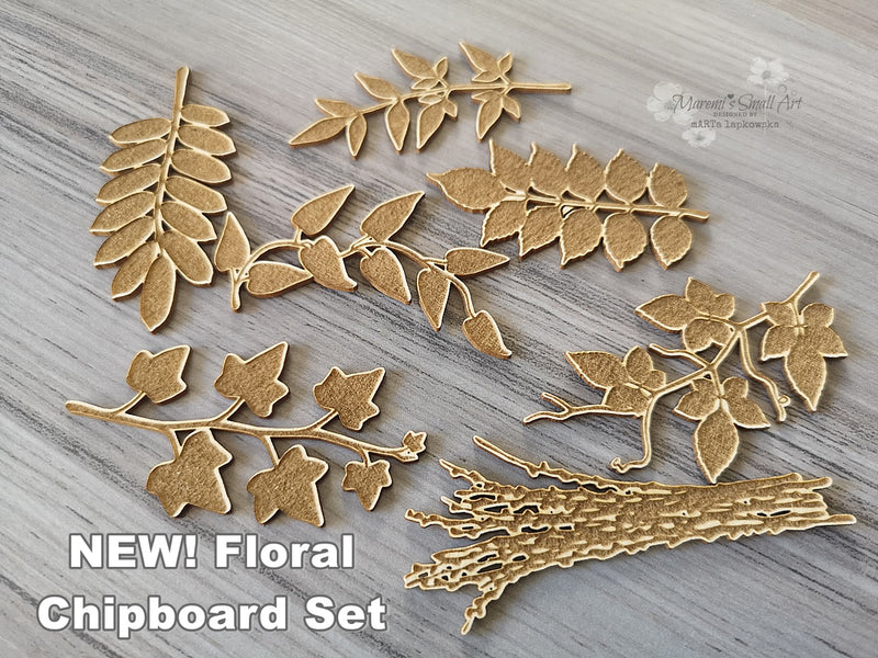 NEW! Floral Set of Chipboards