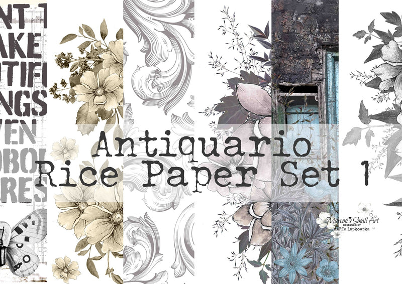Set 1 'Antiquario' Collection Maremi's Rice Papers