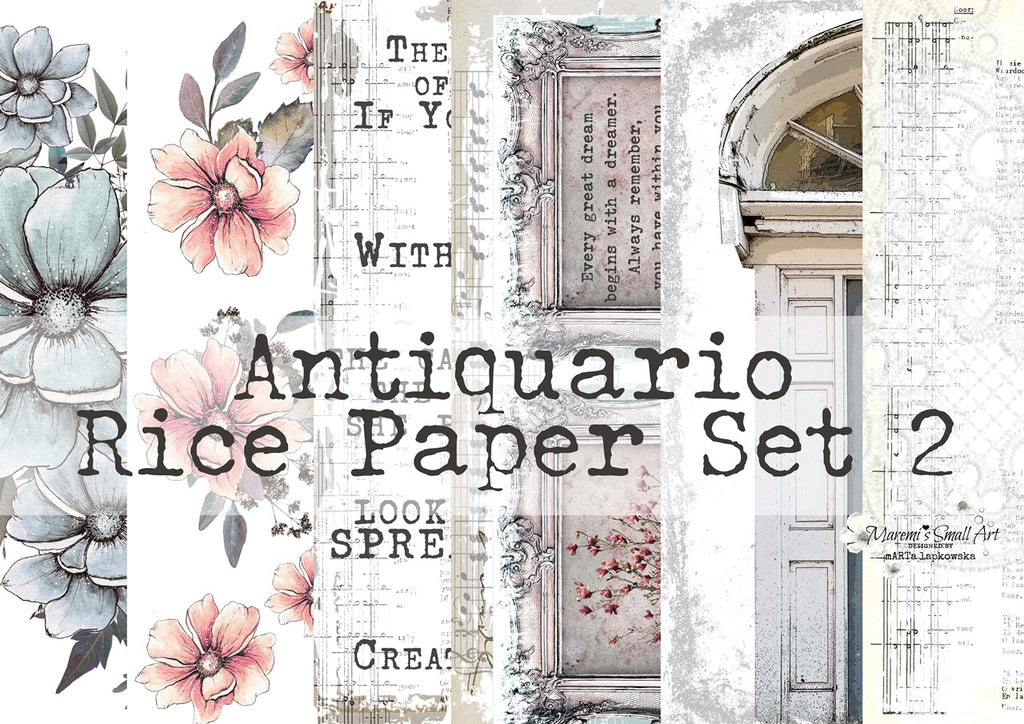 Set 2 'Antiquario' Collection Maremi's Rice Papers