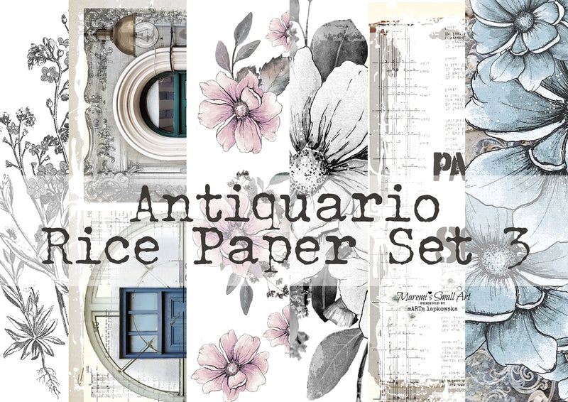 Set 3 'Antiquario' Collection Maremi's Rice Papers