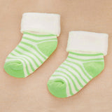 1 Pair Stripe Cotton Baby Socks Random Color