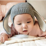 Baby Hat With Long Ears Boys Girl Knitted