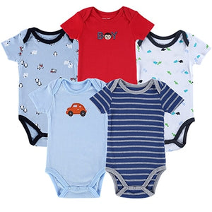 5 pcs/ lot Newborn Baby Rompers Infant Cotton Wear