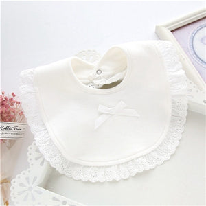 Lace Cotton Baby Girls' Bibs Infant Saliva Towels
