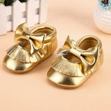 Baby Shoes Girl PU leather Tassel Sequin Bowknot Soft