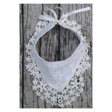 Baby Bib Bibs Burp Cotton Lace Bow