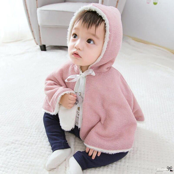 Baby Infant Girls Winter Warm Hooded Coat Kids Girls